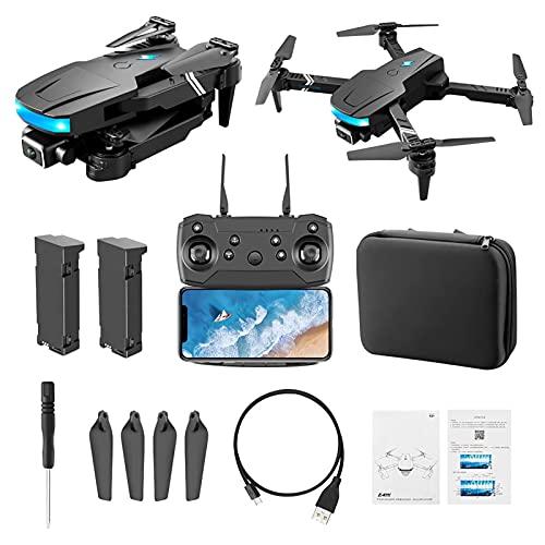 WECDS Mini Drone RC con videocamera HD 4K per Bambini, Quadcopter GPS con Doppia Fotocamera per Principianti, Drone Pieghevole Facile da Usare, Zoom 50 X, WiFiFPV