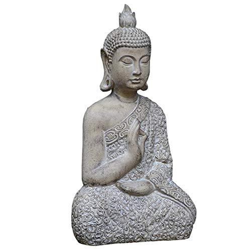 RNNTK For Indoor Outdoor Garden Ornament Buddha, Durable Art Zen Garden Figurines Buddha,For Lawn Courtyard Patio Decor Garden Statue-Small