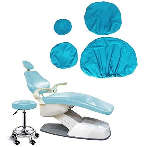 BIUYYY PU-Leder Dental Stuhl Sitzbezug Elastische wasserdichte Schutzhülle Kopfstütze Rückenlehne Schutz Zahnarzt Ausrüstung, 4 Teile/Satz