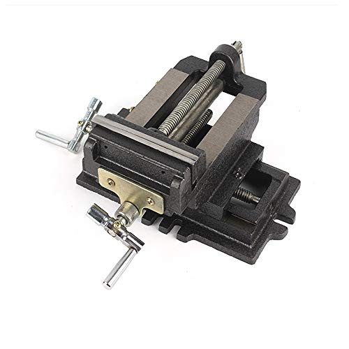 6-Inch Cross-Sliding Vise Heavy Duty X-Y Compound Cross Drill Press Vise Metal Milling Cross Vises Benchtop Vise
