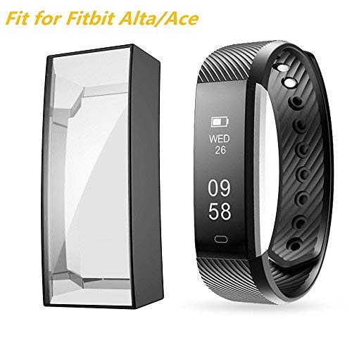 Screen Protector Case for Fitbit Alta HR/Ace, Haojavo Soft TPU Slim Fit Full Cover Screen Protector for Fitbit Alta HR and Ace Accessories Clear