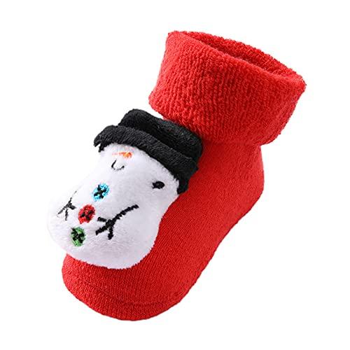 Dasongff Calcetines de suelo antideslizantes para niños pequeños, para invierno, otoño, Papá Noel, calcetines de Papá Noel