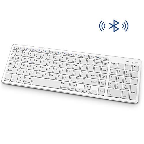Teclado Bluetooth, recargable, portátil, inalámbrico, con almohadilla de números, diseño de tamaño completo para ordenador...