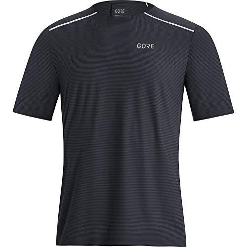 GORE WEAR Camiseta de manga corta de running Contest para hombre, M, Negro