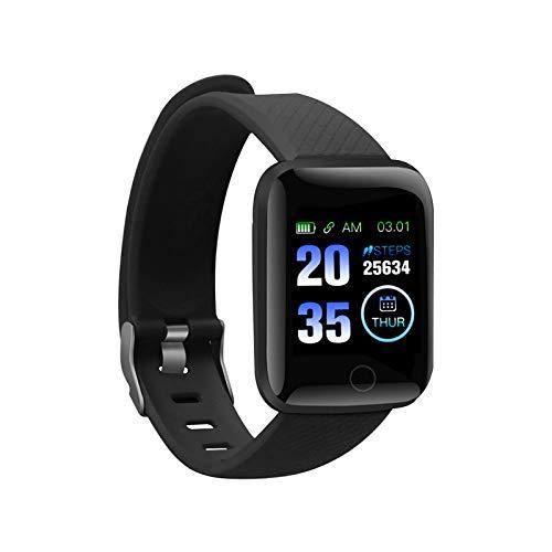 RBNANA Smartwatch Wasserdicht Fitness Tracker mit Schlafüberwachung, Schrittzähler und Pulsmesser, Sport Fitness Uhr für Herren Damen Schwarz