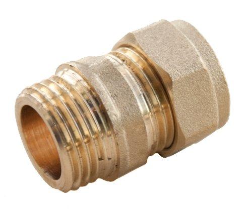 Plumb-Pak PF11 - Raccordo dritto maschio, a compressione, 15 mm x 1/2'