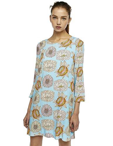 Compañia Fantastica Vestido Mujer Floral Azul