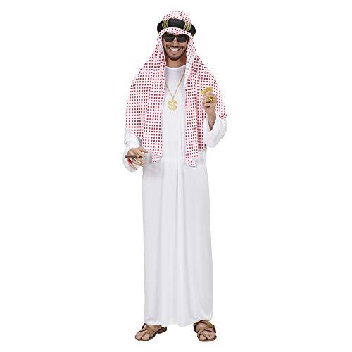 Widmann 8905S – Kostüm arabischer Scheich, Tunika, Kopfbedeckung, Araber, Sultan, verschiedene Größen, Karneval, Motto Party