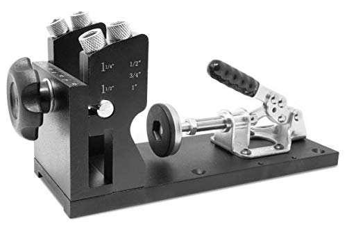 WEN WA1527 Metal Pocket Hole Jig Kit with L-Base, Step Drill Bit, and Self-Tapping Screws