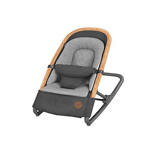 Maxi-Cosi Kori 2-in-1 Baby Schommelstoel, Lichtgewicht Wipstoel, Comfortabele Zitverkleiner, 0-9 kg, Essential Graphite (grijs)