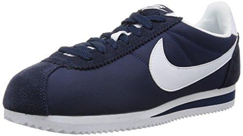 Nike Classic Cortez Nylon, Zapatillas para Hombre, Azul (Azul (Obsidian/White)), 44 EU