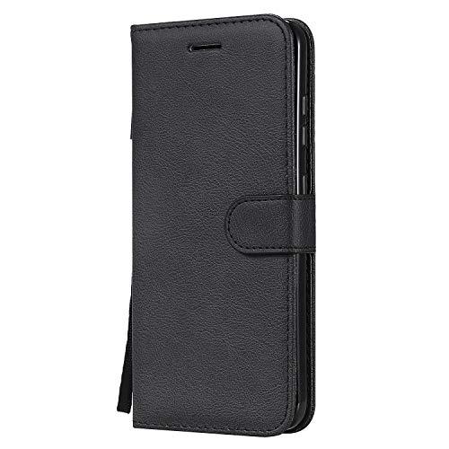 Jeewi Hülle für Nokia 3.2 Hülle Handyhülle [Standfunktion] [Kartenfach] [Magnetverschluss] Tasche Etui Schutzhülle lederhülle klapphülle für Nokia3.2 - JEKT051460 Schwarz