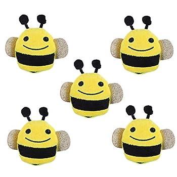 Balacoo Chat Herbe à Chat Jouets-5 Pièces Cataire Chaton Jouets en Forme d'abeille Chat Jouet Interactif Animal Cataire Dents Nettoyage à Mâcher Jouet pour Chats