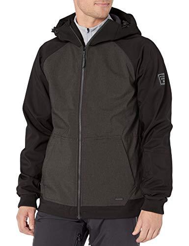Billabong Herren Downhill Softshell Snowboard Jacket Isolierte Jacke, Iron Heather, X-Large