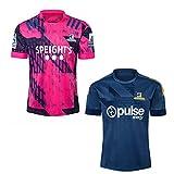 JUNBABY Maillot De Rugby des Highlanders 2020, T-Shirt D'entraînement De Rugby 2021, Maillot De Football Homme-Blue-XL
