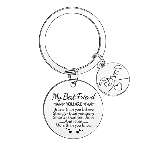 BESPMOSP You Are Braver Than You Believe Inspirational Keyrings For Women...