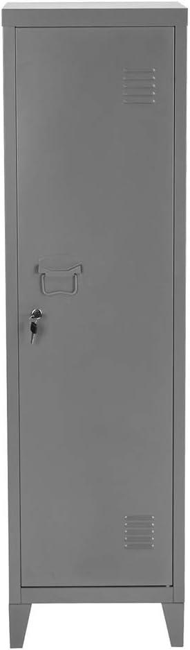 """FurnitureR 54.1"""" High Standing Metal Locker Storage Cabinet 3-in-1 Shelves Removable with Keys Lockable"""