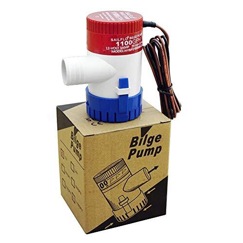 KLJKUJ 1100 GPH 12 V/24 V Bomba de Agua de sentina Sumergible para Piscina Ya- CHT RV SPA HYBP2-G1100-01…