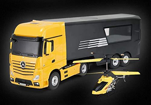 Coche de acrobacias con control remoto + camión remoto, coche de control de combinación interactiva, carreras de niños y niñas para adultos, camión contenedor modelo de coche de juguete, coche de jug