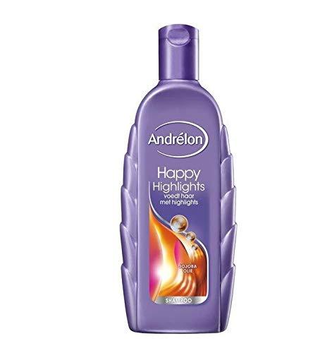 6er Pack - Andrelon Shampoo - Happy Highlights - zur Haarpflege mit Glanzlichtern - 300 ml