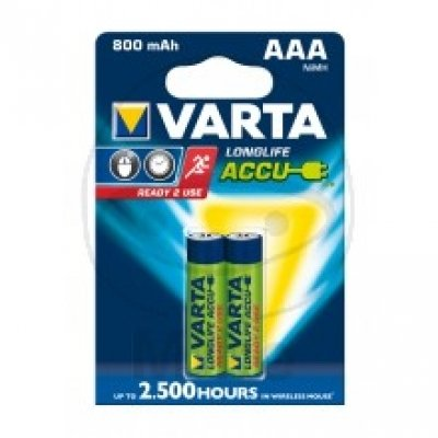 Varta Longlife Accu Batterie NiMH (Gerätebatterie, Wiederaufladbar), Micro, 1,2V, AAA, HR03, Akku
