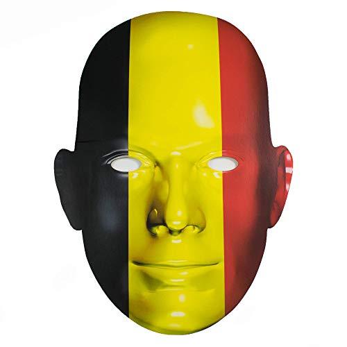 AMAZING1 - Mscara de disfraz de Blgica para eventos deportivos y celebraciones nacionales