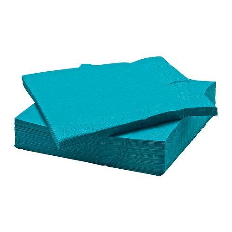 燃やすスマート独立してIKEA FANTASTISK - Paper napkin, turquoise / 50 pack / 50 pack - 40x40 cm