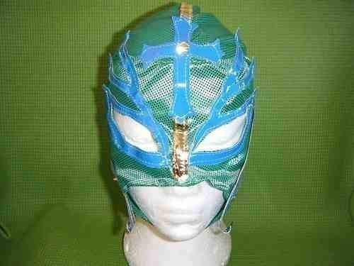 grün Ringer Maske für Rey Mysterio Kostüm verkleiden Outfit Maske Kostüm verkleiden Outfit NEU Serie Mexikanisch Cosplay Rollenspiel BRANDNEU