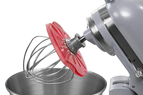 Whisk Wiper PRO for Stand Mixers - Mix Without The Mess - The Ultimate Stand Mixer Accessory - Compatible With KitchenAid Tilt-Head Stand Mixers - 4.5qt, 5qt (Color: Red)