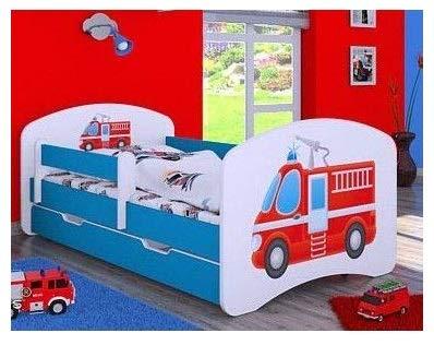 naka24 Kinderbett mit Matratze und Bettkasten für Jungen (160x80 cm,...