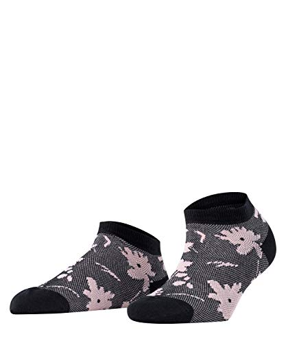 ESPRIT Damen Filigree Flower W SN Hausschuh-Socken, Schwarz (Black 3000), 39-42 (UK 5.5-8 Ι US 8-10.5) (2er Pack)