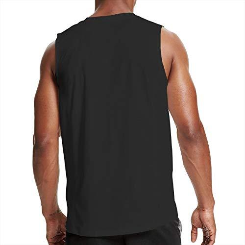 NFGrfd Men's Fitness Tank Top Casual 3D Printed Sleeveless Vest - American Ironworker Waistcoat Black