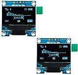 """VKLSVAN 2個 0.96"""" I2C IIC シリアル ブルー OLEDモジュール128×64 OLED LCDディスプレイArduinoに対応"""