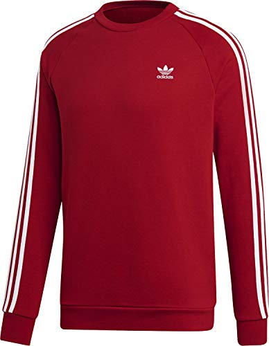 adidas Herren 3-Stripes Crew Sweatshirt, Power red, XL