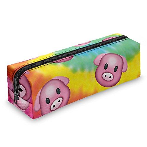 Pig Dye cerdito estuche escolar–Estuche escolar Bolígrafos estuche caja lápices Escuela Maquillaje Pinceles Box
