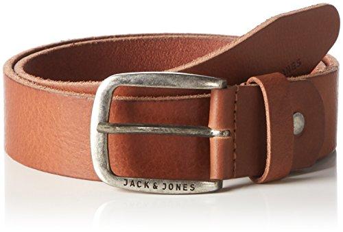 JACK & JONES Herren JJIPAUL JJLEATHER Belt NOOS Gürtel, Braun (Mocha Bisque Mocha Bisque), 90 cm (Herstellergröße: 90)