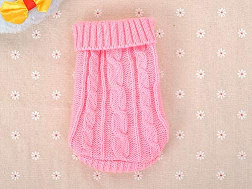 FidgetGear XXXS XXS XS Knitted Dog Sweater Cat Puppy Clothes Jumper for Chihuahua Teacup Pink product image