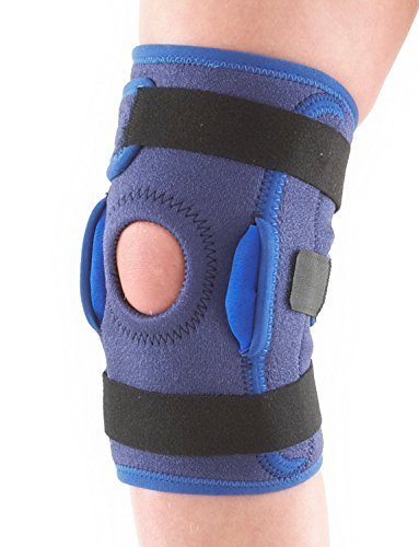 Neo G Knee Brace for Kids, Hinged Open Patella - Side Hinges Support For ACL, Juvenile Arthritis Relief, Joint Pain, Meniscus Pain - Adjustable Compression - Class 1 Medical Device - One Size - Blue