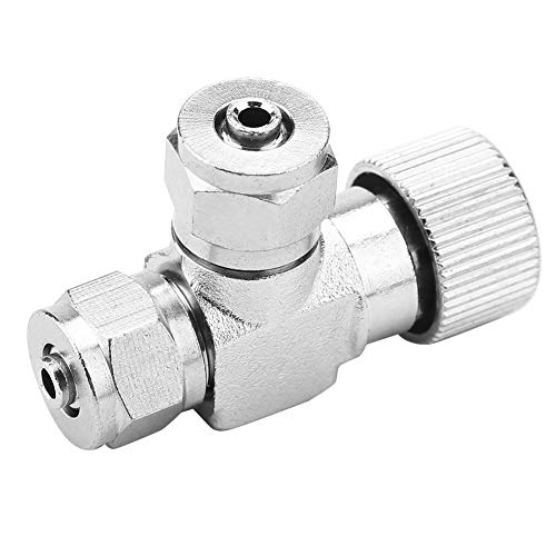 HEEPDD Aquarium CO2 Check Valve, Aquarium Systeem CO2 Regulator Roestvrij Staal Eénpersoons/Dubbele Hoofd Micro-meter Valve Naald Check Valves Bubble Counter, 02#