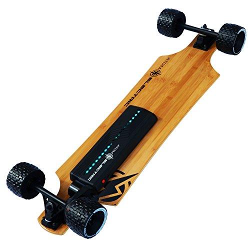 Atom Longboards Electric B10X All Terrain Longboard Skateboard (90Wh Lithium Battery & 1000W Motor),...