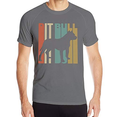 Mary S West Pitbull1 T-Shirt à séchage Rapide pour Hommes T-Shirt Militaire Hommes Camping en Plein air Chemises de randonnée à Manches Courtes
