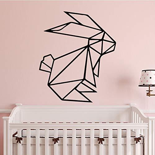 wZUN Netter Kaninchen Wandaufkleber selbstklebendes Wohnzimmer Schlafzimmer Vinyl Wandkunst Aufkleber 36x43cm
