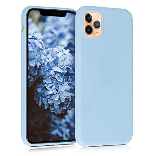 kwmobile Hülle kompatibel mit Apple iPhone 11 Pro Max - Hülle Silikon - Soft Handyhülle - Handy Hülle in Hellblau matt