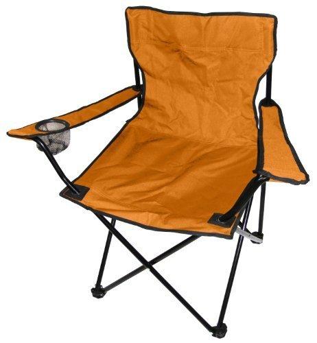Spetebo Camping Klappstuhl in orange - Campingstuhl