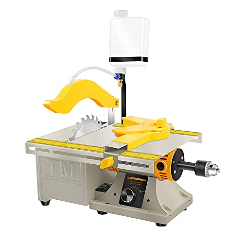 LIBAOTML Mini Table Saw for Hobbies - Small Multipurpose Woodworking Table Top Saw - Portable Hobby Cutting Machine for DIY Projects - Compact Tabletop Wood Saws for Jewelry Making, Drilling, Crafts