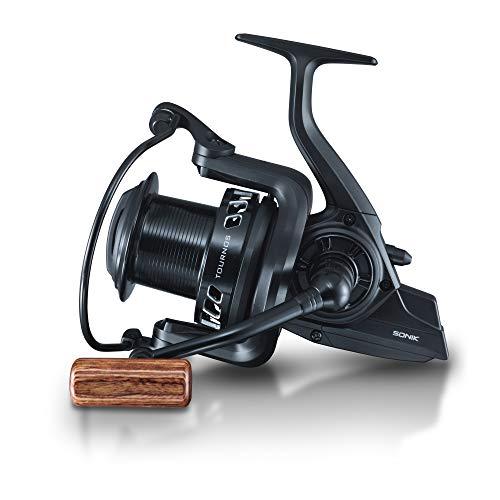 Sonik Tournos XD 10000 - Carrete para pesca de carpas, color negro