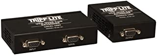 Tripp Lite B130-101 VGA Over Cat5 / Cat6 Extender, Transmitter and Receiver, with EDID Copy, 1920x1440 at 60Hz