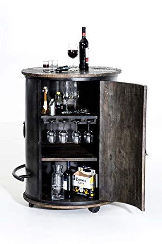CLP Weinschrank Chicago aus Holz I Barwagen - 2
