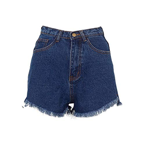 Adelina damesshort denim-shorts zomer hoge taille jeans shorts vrouwen modieuze gedragen losse korte voorste lange achter shorts