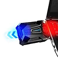 ノートパソコンCPU冷却ファン USB吸引式クーラー 排気口に取付 ミニサイズ冷却パッド ファンスピード調整ができ 静音タイプ CPUクーラー持ち運び便利 扇風機 -ノートパソコン用冷却パッ